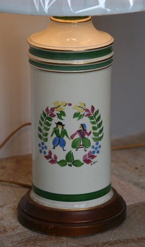 Dutch Painted Lamp By Marbro Lamp Company