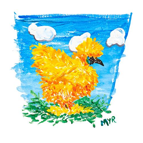 Silky Bantam Watercolor