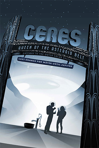 Ceres - NASA Space Age Travel Poster