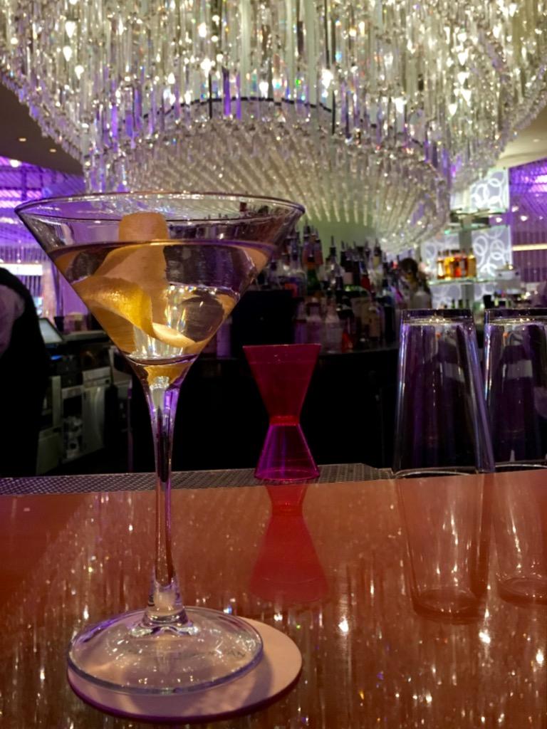 Martini At The Chandelier Bar (Upper Level) At Cosmopolitan Las Vegas