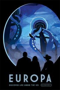 Europa - NASA Space Age Travel Poster