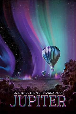 Jupiter - NASA Space Age Travel Poster