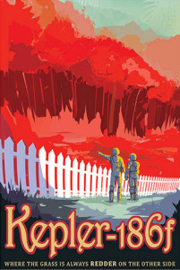 Kepler-186f - NASA Space Age Travel Poster