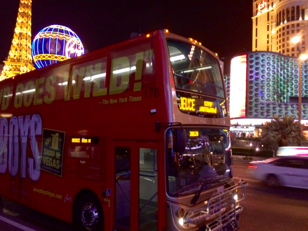The Deuce Bus On The Las Vegas Strip