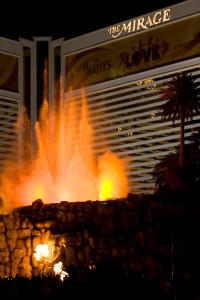 Mirage Las Vegas Volcano Eruption