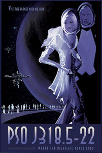 PSO J318.5-22 - NASA Space Age Travel Poster