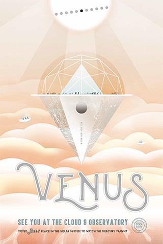 Venus - NASA Space Age Travel Poster