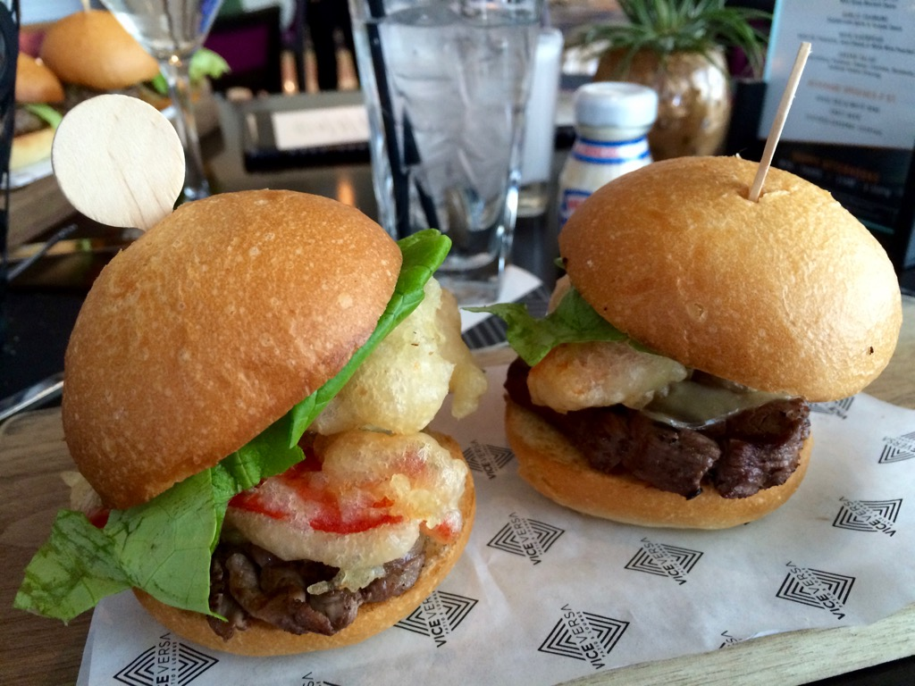 Lobster Tempura Filet Mignon Sliders - Vice/Versa At Vdara Las Vegas