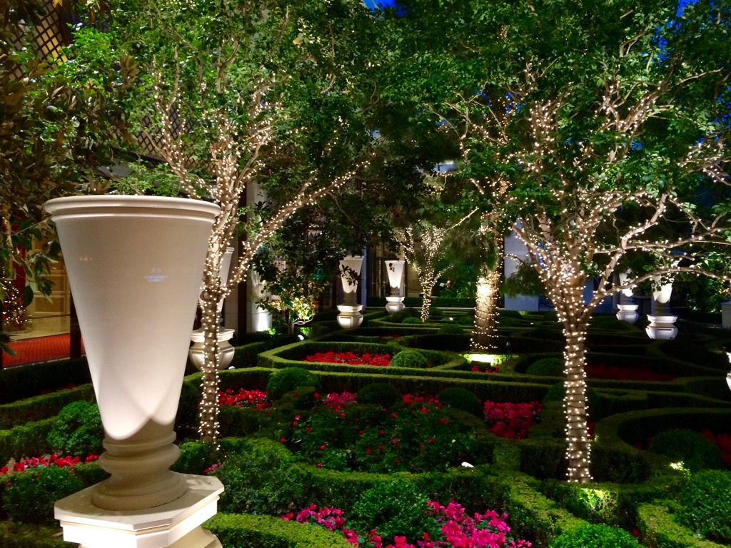 Nighttime Gardens At Wynn/Encore Las Vegas