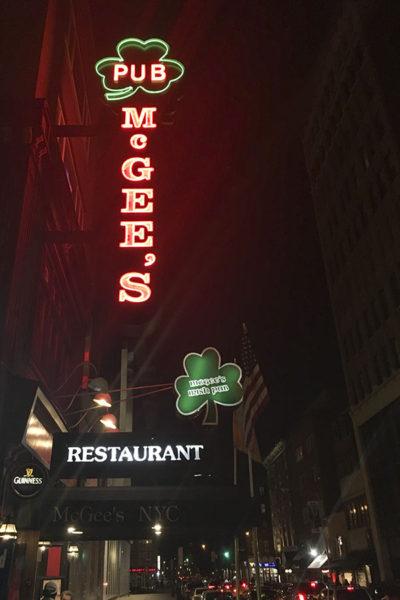 mcgees irish pub new york