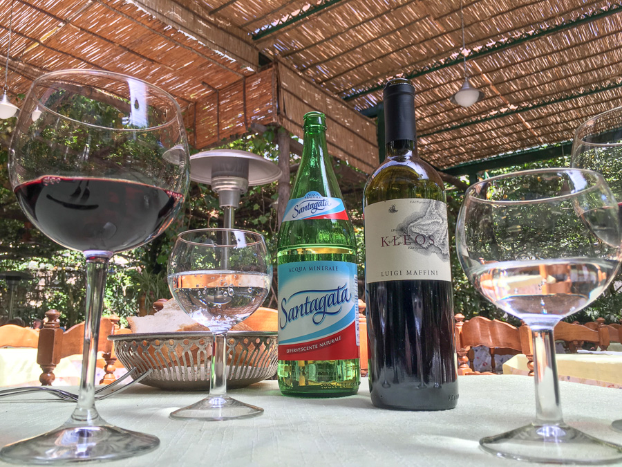wine and water parrucchiano favorita sorrento italy