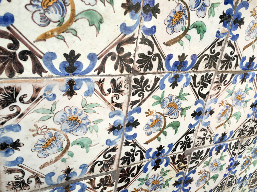 elaborate tiles Sorrento Italy
