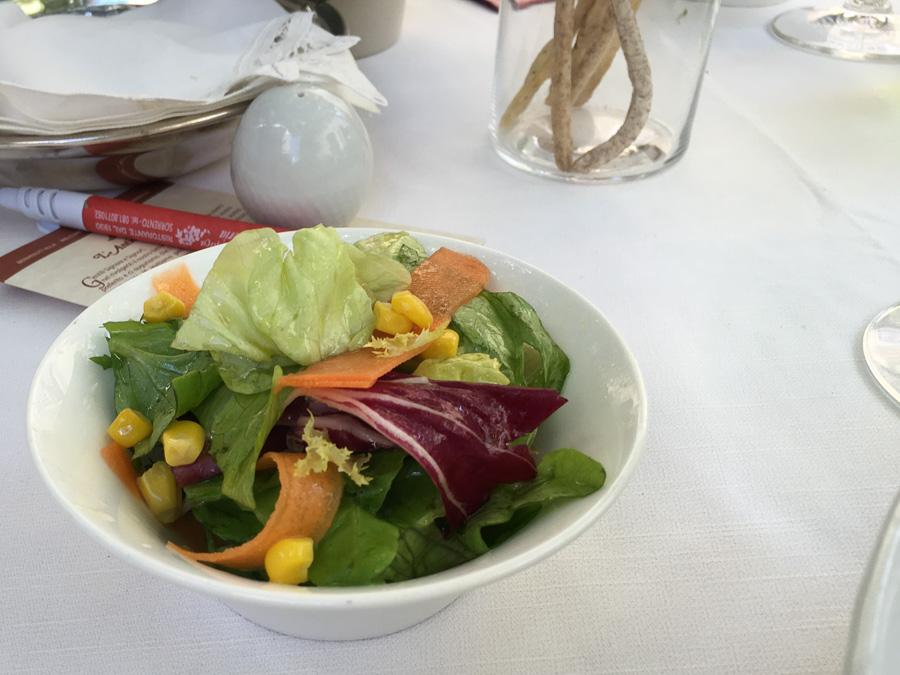 side salad l'antica trattoria sorrento italy