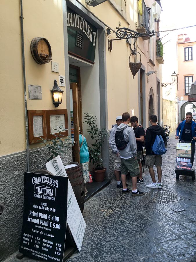 chantecler's trattoria entrance sorrento italy