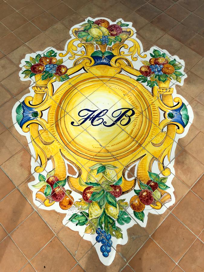 Tile artwork at Hotel Belair Sorrento Italy