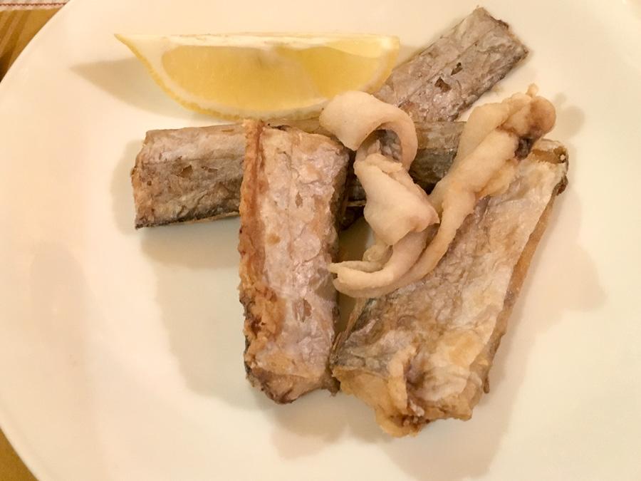 pesce serra frito chanteclers trattoria sorrento italy