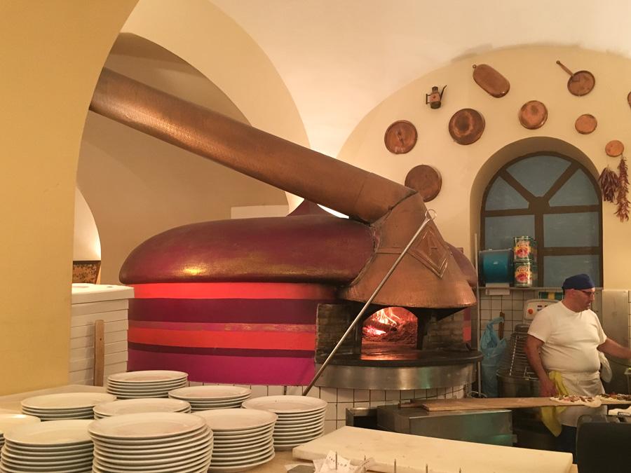 wood fired oven pizzeria aurora sorrento italy